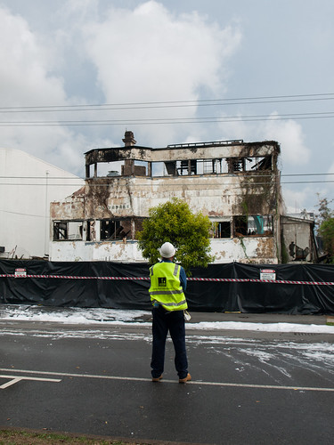 Belvedere House demolition after unexplained fire