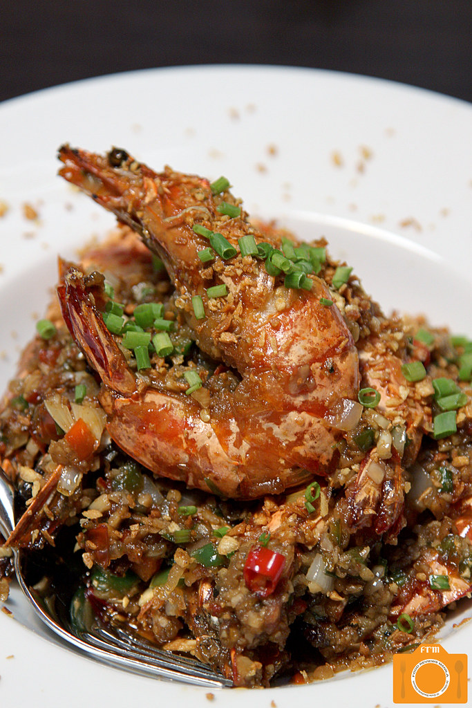 Coca Prawns with Garlic and Chili