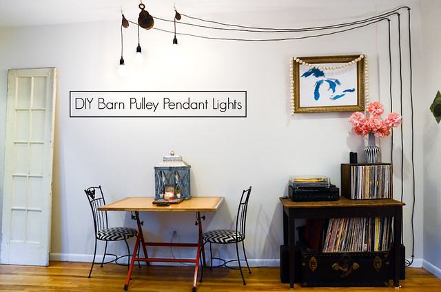 Diy barn pulley pendant lights stars for streetlights aloadofball Image collections