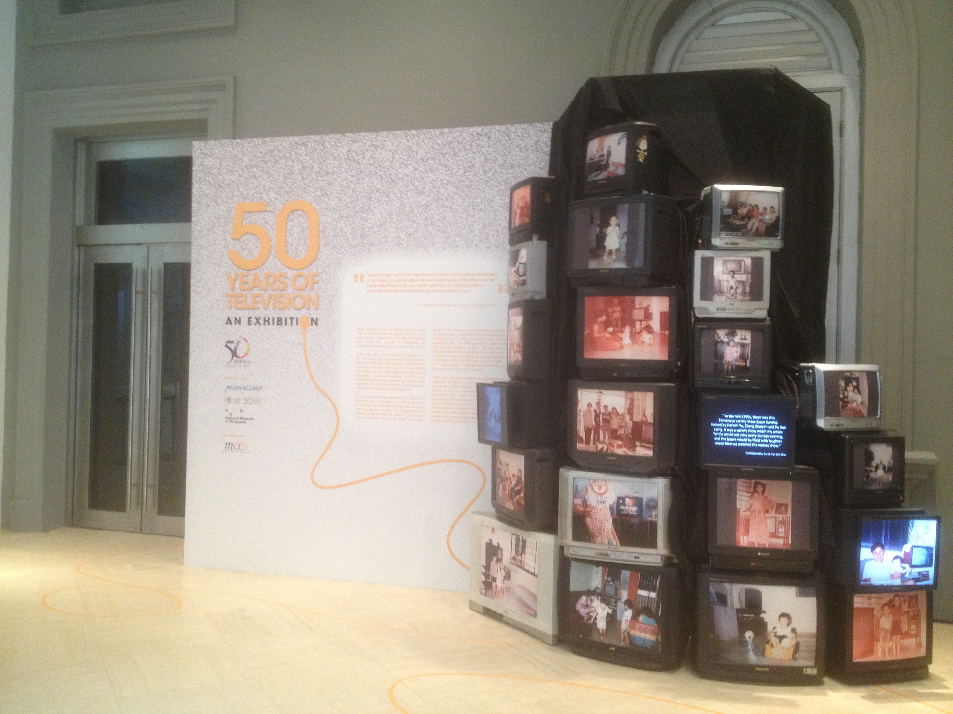 "Opening tomorrow: ""50 Years of Television: An Exhibition"""