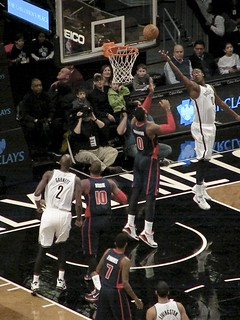 Andray Blatche With a Reverse Lay-Up