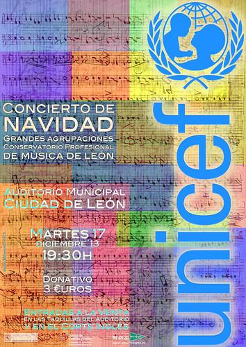 CONCIERTO DE NAVIDAD A BENEFICIO DE UNICEF - CONSERVATORIO PROFESIONAL DE MÚSICA DE LEÓN - 17.12.13 by juanluisgx