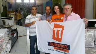 Fábio Pereira, coordenador regional do Solidariedade, Odair José Borges, membro da Comissão Provisória, Aline Sartori, presidente do Solidariedade em Ibitinga (SP) e pré-candidata a deputada federal, e Sandoval Fernandes, coordenador regional