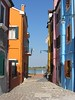 Burano Street Scene by Train Fan