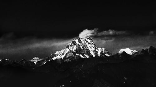 landscape blackwhite bhutan himalayan