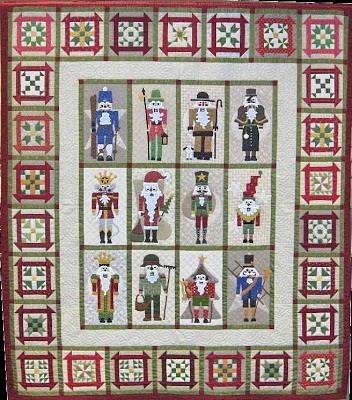 Nutcracker quilt, by sue garman, as seen at quakertownquilts.com