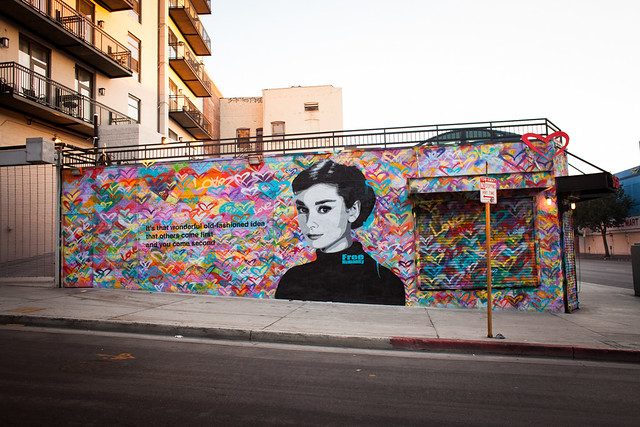 Free humanity 15 x 50 foot audrey hepburn mural flickr for Audrey hepburn mural los angeles