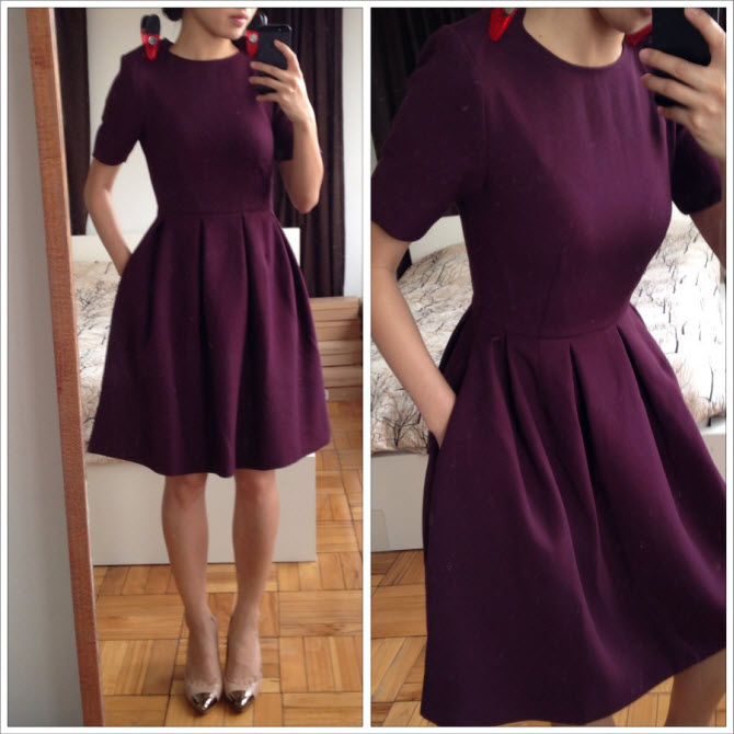 hm dress clipped