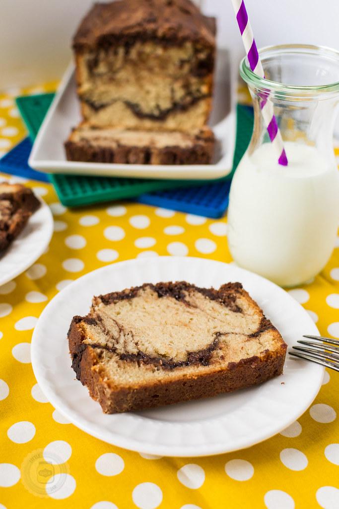 Vanilla Pound Cake with Nutella Swirl Spread 6