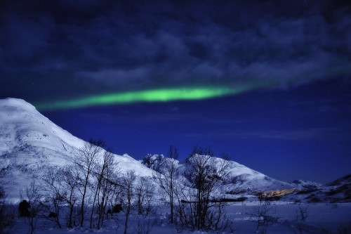 Northern Lights outside Tromso, Norway