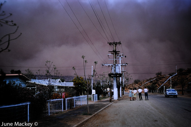 Dust storm Alice Springs-1964