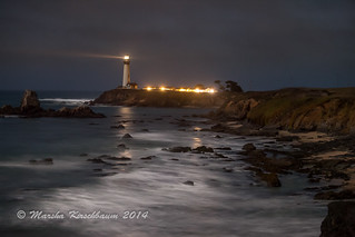 Moonlight on Pidgeon Point Lighthouse