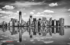 Downtown Manhattan reflection