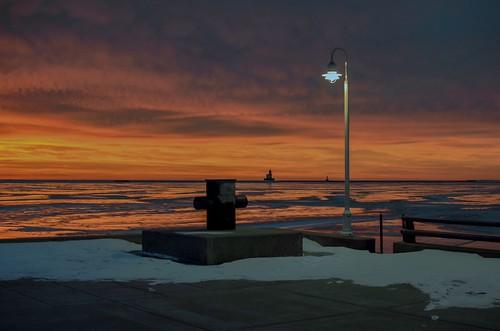 Dawn on Lake Michigan