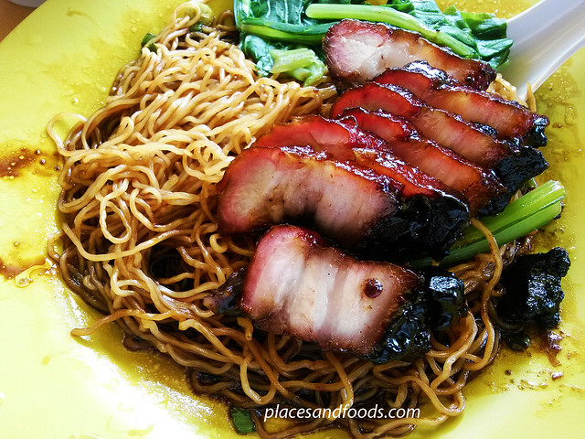 hung kee wonton noodle char siew