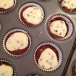 Layered cupcake batter