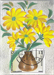 yellow flowers in vase (NFT)