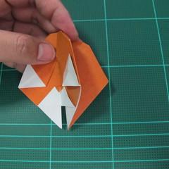 การพับกระดาษเป็นที่คั่นหนังสือหมีแว่น (Spectacled Bear Origami)  โดย Diego Quevedo 030