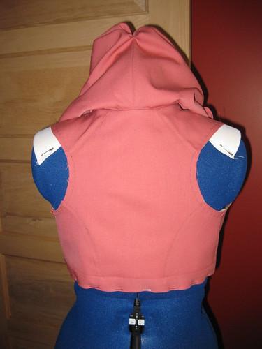1800's Hooded Pelisse Bodice - Back