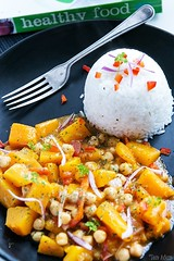Butternut Squash, Chickpea Curry