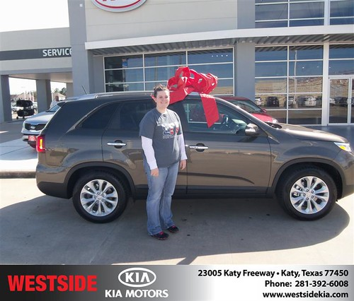 Happy Anniversary to Rebecca R Teal on your 2014 #Kia #Sorento from Rizkallah Elhallal and everyone at Westside Kia! #Anniversary by Westside KIA