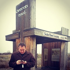 Playing the Oregon Trail Game on the Oregon Trail for my Doppleganger Bucket List. #bloggingcon #oregon #history