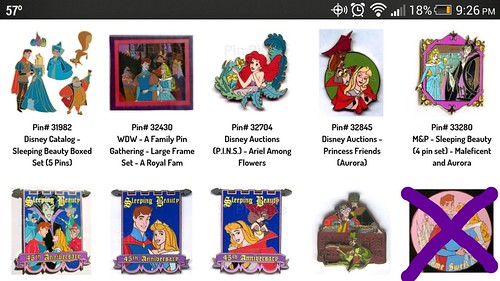 Older HTF Sleeping Beauty pins   Disney Pin Forum