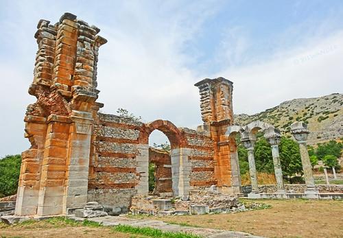 Macedonia, Philippi, remnants of the byzantine basilica