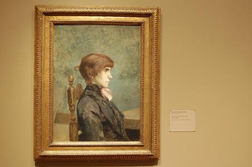 Henri de Toulouse-Lautrec French, 1864-1901 Portrait of Jeanne Wenz, 1886
