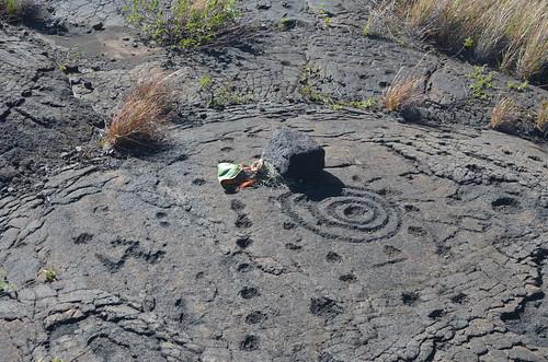 Petroglyphs at Pu'u Loa