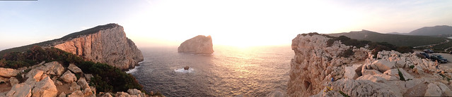 sunset at capo caccia