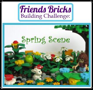 Friends Bricks Building Challenge: Spring Scene