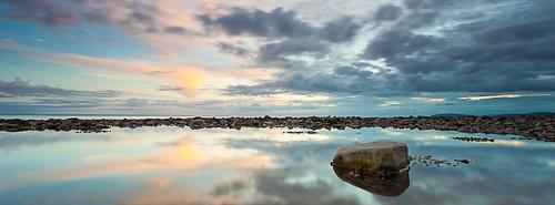 sunset reflection pool rock somerset staudriesbay catscape