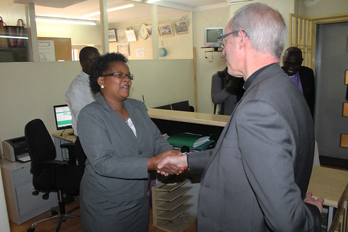 The Archbishop of Canterbury with Mothers' Union Coordinator, Sophia Mwaniki