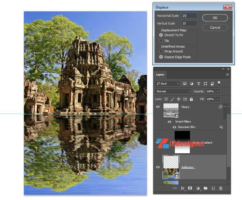 Tạo hiệu ứng bóng nước gợn sóng trong Adobe Photoshop
