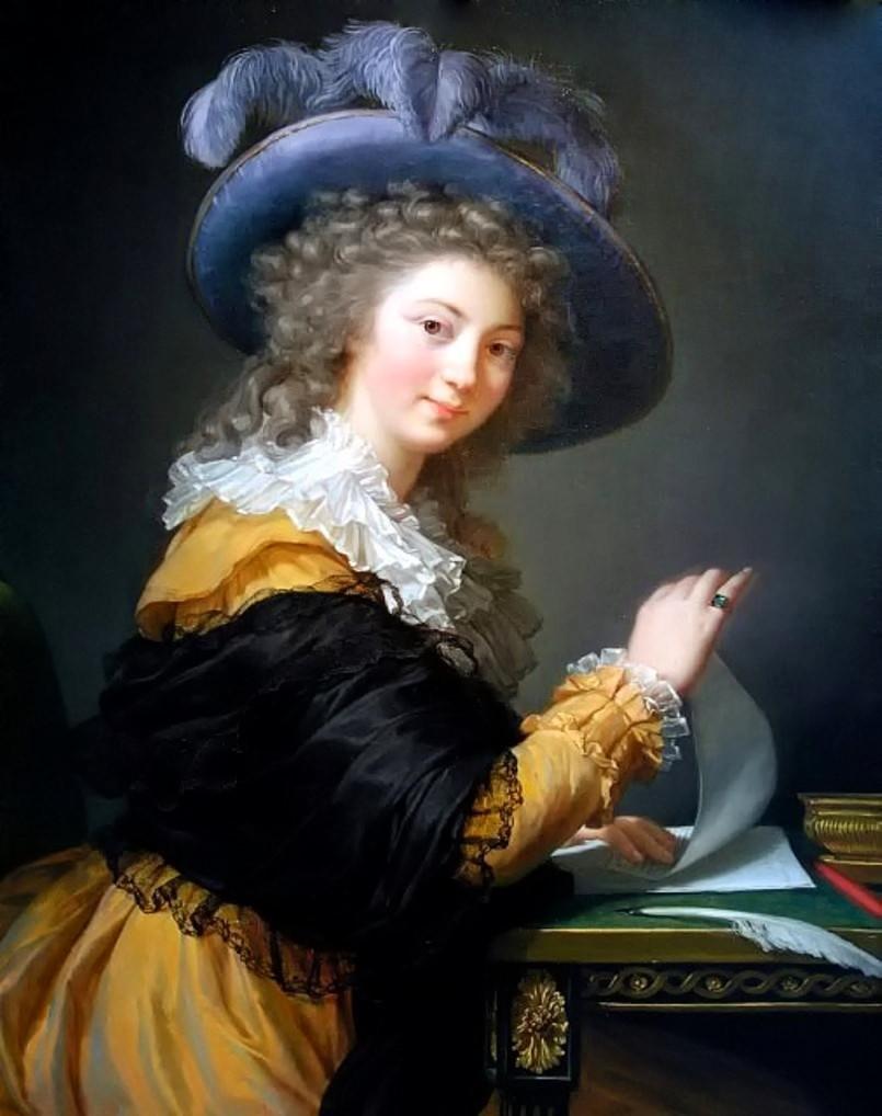 Lady Folding a Letter by Élisabeth Vigée-Lebrun, 1784