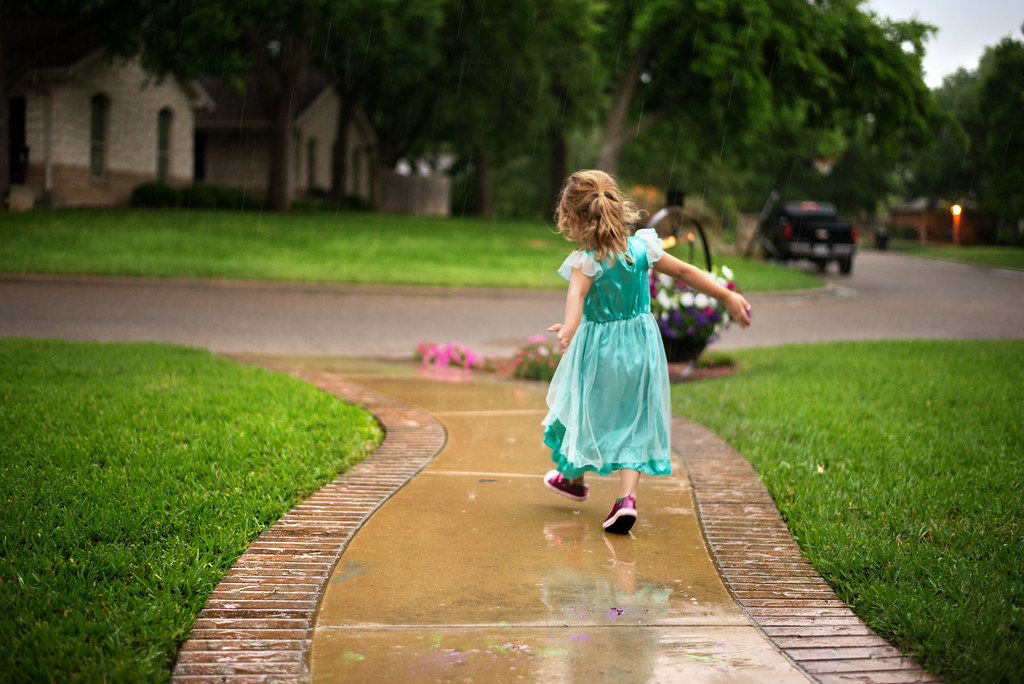 Reese Dancing in the Rain