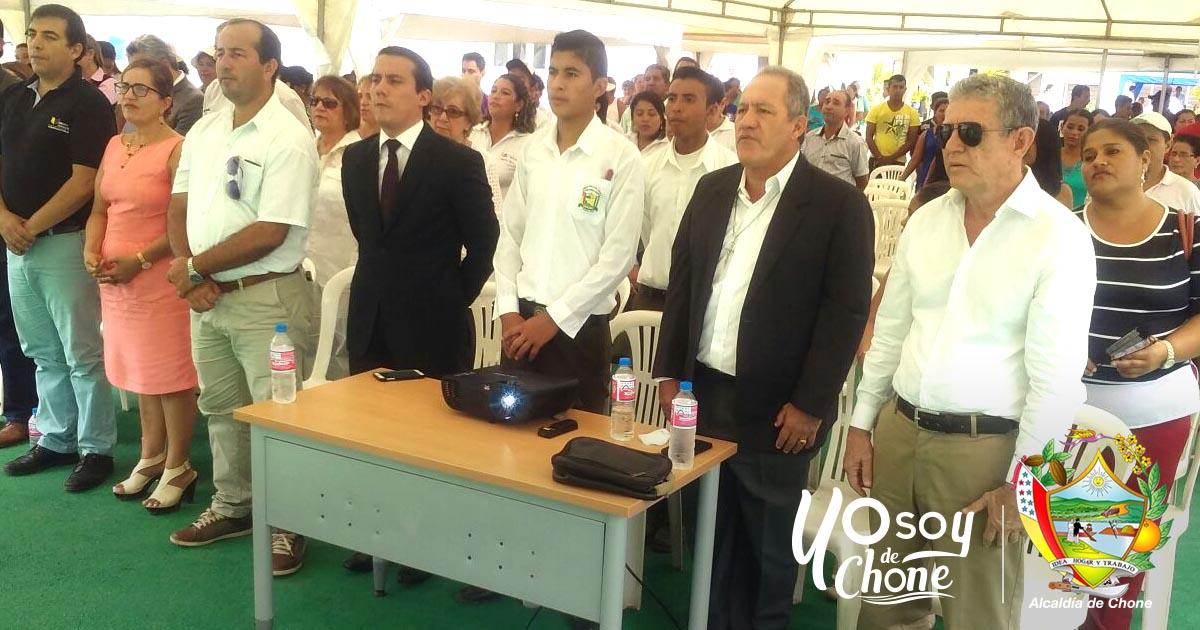 Inauguración de la Unidad Educativa Siglo XXI Colón Arteaga García