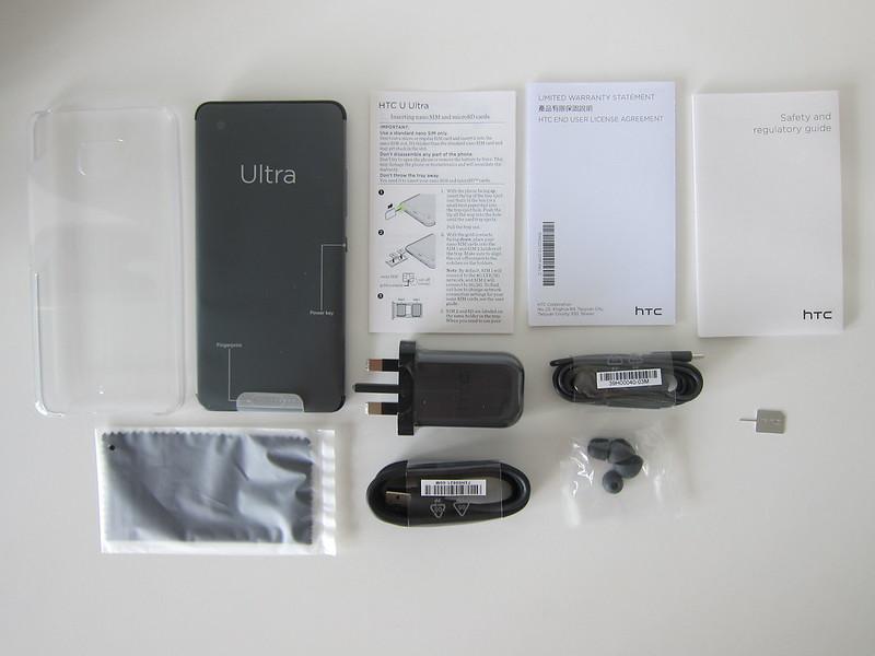 HTC U Ultra - Box Contents