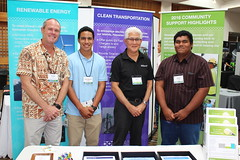 Hawaiian Electric Companies at the Maui Energy Conference - March 22 - 24, 2017: Gregg K. and Alan Oshima, Hawaiian Electric President & CEO with Maui Electric high school interns