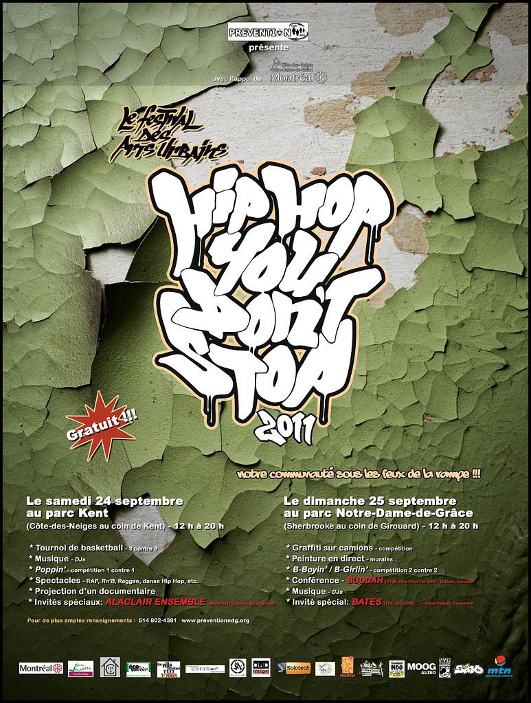 Parc Notre-Dame-de-Grâce Hip Hop Poster Septembre 2011 | Flickr