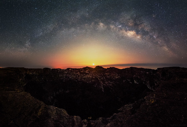 Milky Way and Moonrise