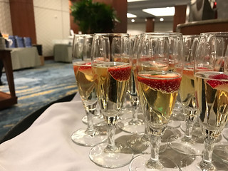 Finishing off the conference with a toast