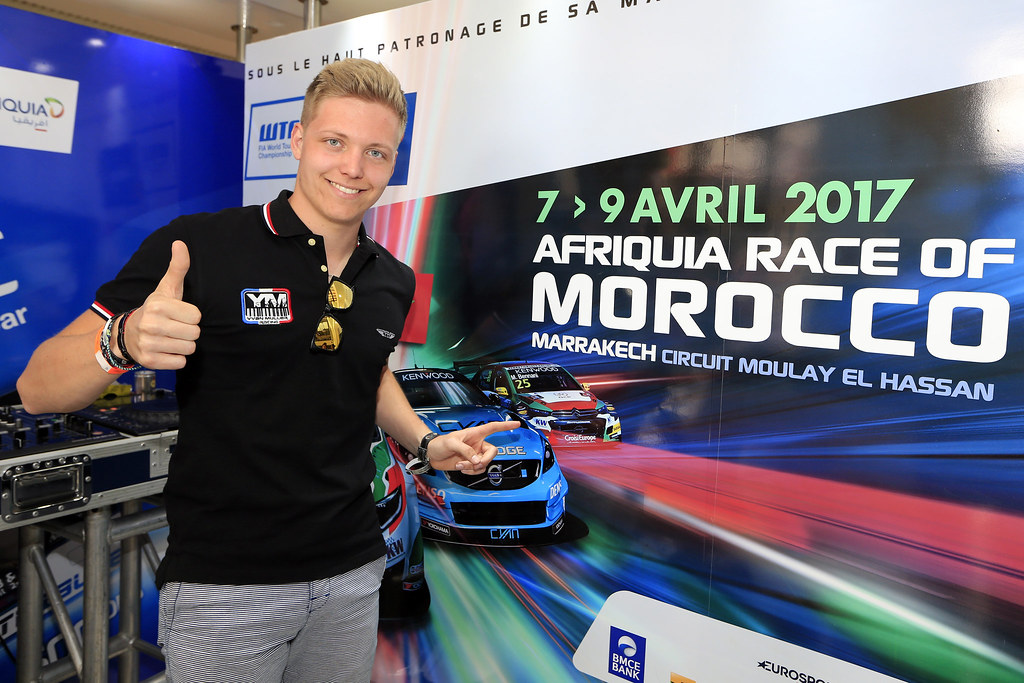 EHRLACHER Yann (fra) LADA Vesta team RC Motorsport ambiance portrait during the 2017 FIA WTCC World Touring Car Race of Morocco at Marrakech, from April 7 to 9 - Photo Paulo Maria / DPPI