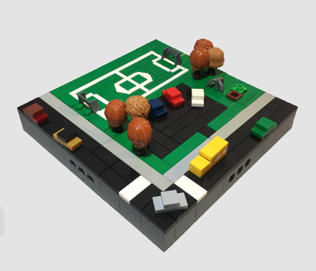 Micropolis Soccer Field (custom built Lego model)