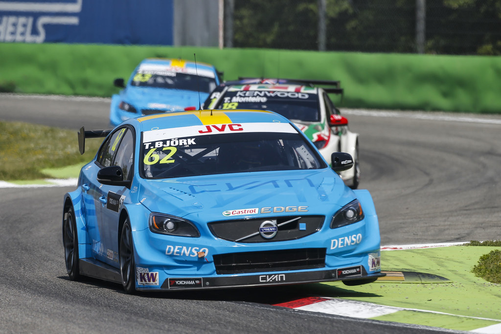 62 BJORK Thed (swe) Volvo S60 Polestar team Polestar Cyan Racing action during the 2017 FIA WTCC World Touring Car Race of Italy at Monza, from April 28 to 30  - Photo Francois Flamand / DPPI