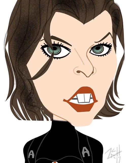 @MillaJovovich #ResidentEvil  #caricature...