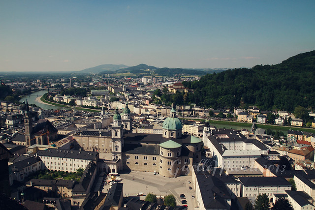 Salzburg, seen from the Festung Hohensalzburg