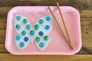 Butterfly Bath Applique Marbles Tray