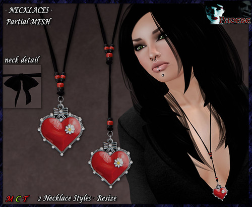 *P* Sweet Heart Necklaces (P-MESH)